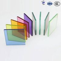 Blue Green Gray Bronze Color Tempered Glass hot selling