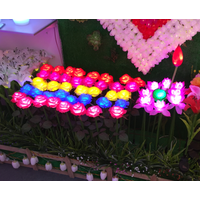 artificial rose with led light for outdoor or garden