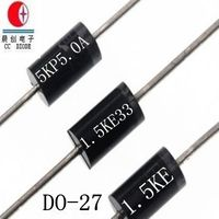 Free Samples DO-27 Package 1500W 36V TVS Chip Rectifier Diode 1.5KE36A/CA Free Samples