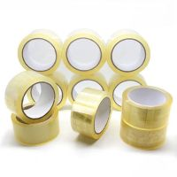 Custom bopp transparent clear packing tape adhesive silent no noise bopp easy tear packaging tap thumbnail image