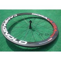 Ultra two 700c carbon 50mm clincher wheel with road balck straight pull hub 11s blade spokes black n thumbnail image
