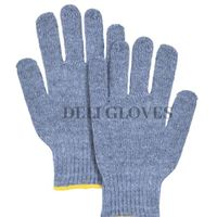 Charcoal Cotton Safety Gloves thumbnail image