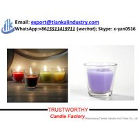 decoration glass candle in jar thumbnail image