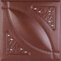embossed 3D leather panel board for wall decoration