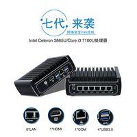 New DDR4 Pfsense Box 7th Gen Kaby Lake Intel i5 7200u 2.5GHz Dual Core Fanless Mini PC 6 lans thumbnail image