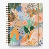 Spiral Notebook, 5 Subject, Wide Ruled Paper, 200 Sheets, 10-1/2 x 8 inches, Assorted colors
