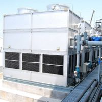 closed circuit cooling towers, water turbine cooling towers ( eletricless cooling towers