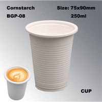 Hot Drinking Disposable Biodegradable Cornstarch Cup 8oz thumbnail image