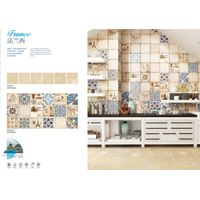 Floret small archaized ceramic tile