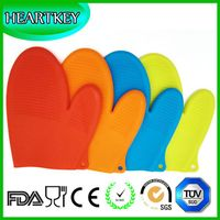 High quality extra long silicone oven mitts heat protective glove with cotton GVJMX06 thumbnail image