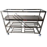 Mortuary hospital side loading stainless steel corpse storage rack