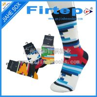 OEM custom casual men's socks in fresh color China socks manufacture
