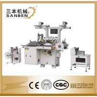 SBM-320 Self adhesive label die cuttting machine for roll materials, flatbed die cutting machine wit