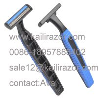 KL-X202L double blade rubber handle disposable shaving razor