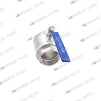 Stainless Steel Industrial Manual 2PC Clamped Vacuum Ball Valve thumbnail image