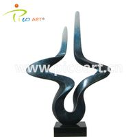 Handmade Abstract Polished Interior Eletro Plating Polyester Resin Sculpture thumbnail image