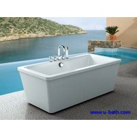 UB160 Modern acrylic bathtub with faucet and shower wholesale