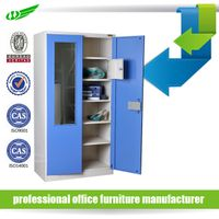Factory Price Metal Wardrobe Cabinet / 2 Doors Steel Wardrobe