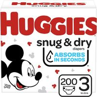 Huggies Snug & Dry Baby Diapers, Size 3, 200 Ct