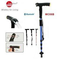 Multifunctional walking stick with MP3 LED flashlight FM Radio SOS & Bluetooth thumbnail image