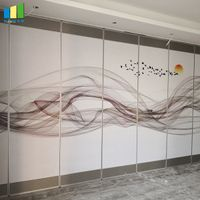 Customized Modern Soundproofing Panels Interior Doors Sliding Movable Partition Wall For Hotel thumbnail image
