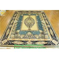 Turkish Design Hot Sale Carpet Handmade Silk Rug Two colors for sale