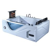 Glass Bathroom Acrylic Whirlpool Massage Bathtub With TV thumbnail image
