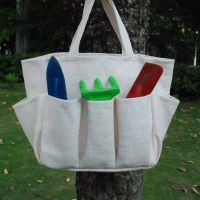Solid Color Garden Tool Bag Made of Burlap thumbnail image