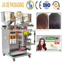 black hair dye shampoo packing machine