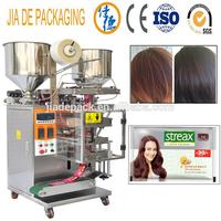 black hair dye shampoo packing machine