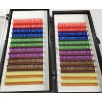 Colorful silk eyelashes trays private name manufacture is acceptable