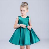 Children dress skirt girl long sleeve wedding dress new red bow Princess dress Baby girl Dress, flow thumbnail image