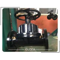 Rubber Lined Cast Iron GG25 KB type or Straight Through Diaphragm Valve thumbnail image