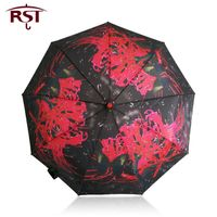 RST oil painting art woman umbrella folding brand quality 9Ribs windproof umbrella Parasol Paraguas
