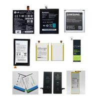 Various types of cell phone batteries