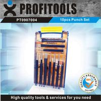 10pcs High quality  Punch Set  in a Plastic Shelf