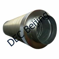 Sound absorbing 5 inch flexible acoustic ducting for heat recovery systems
