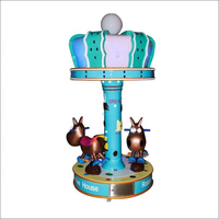 new arrIval coin operated kids rides game machine 3 players carousel for amusement centers thumbnail image