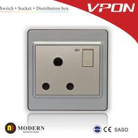 15A 3 round pin socket switch thumbnail image
