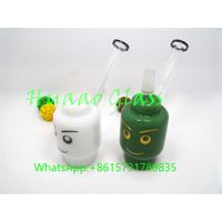 newest Smoking Water Pipes Water Bongs white and green two color thumbnail image