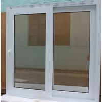 High quality PVC double glass sliding window for house