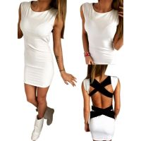 Hot Sale Summer Women Fashion Patchwork Sleeveless Club Wear Dress WT33038