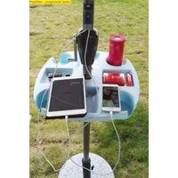 Solar Umbrella Mobile Phone Charger for Beach Resorts
