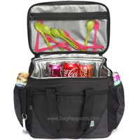 Large Cooler Bag, 30-Can 23L Insulated Leakproof Picnic Lunch Bag Multi-Pockets for Camping, Beach, thumbnail image
