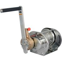 Stainless Steel Ratchet Hand Winches (Electropolishing): Model ERSB-1-SI (100kgf)