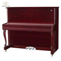 Shanghai Artmann UP-123A2 88 keys red wood gloss mechanical vertical upright piano