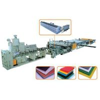 PEand PVC Plastic Hollow Cross Section Plate Extrusion Line plastic machines