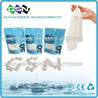 China Compressed Tissue Paper Napkins/Compressed Magic towel/Compressed Coin Tissue