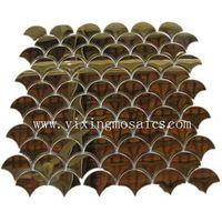 fish scape shape( fan shape) metal mosaic tiles for wall or floor decoration thumbnail image