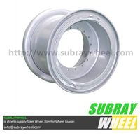 5 Piece tubeless wheel for mining earthmover